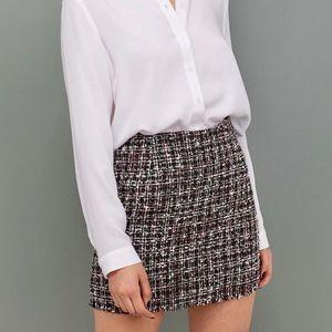 H&M Jacquard Weave Plaid Mini Skirt